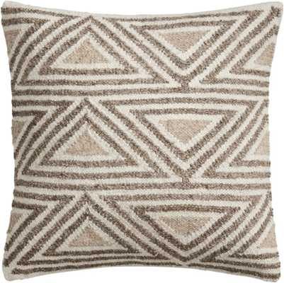 """18"""" Tula Triangle Pattern Pillow with Feather-Down Insert - CB2"""