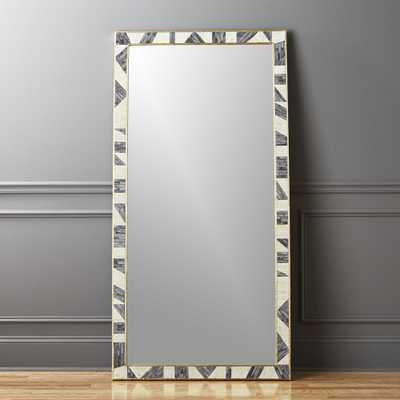 "Grace Bone Inlay Floor Mirror 36"" x 72"" - CB2"