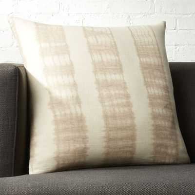 """""""23"""""""" Natural Tie Dye Pillow with Down-Alternative Insert"""" - CB2"""