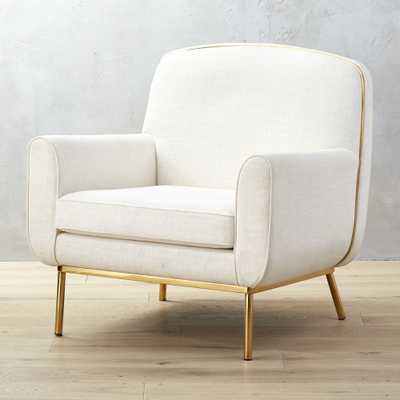 Halo White Snow Armchair - CB2