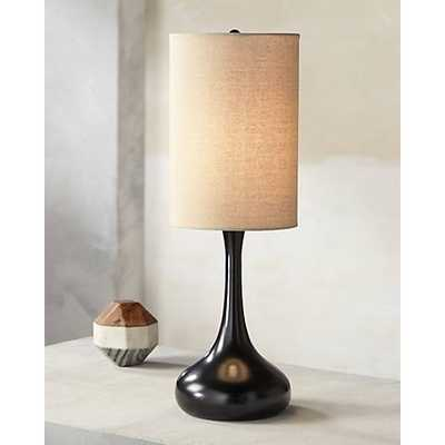 Droplet Table Lamp in Espresso Bronze with Cylinder Shade - Lamps Plus
