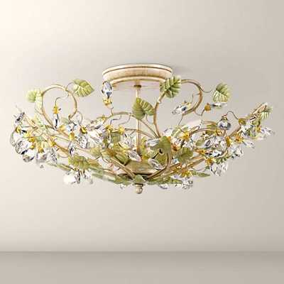 "Crystorama Josie 20 1/2"" Wide Floral Crystal Ceiling Light - Lamps Plus"