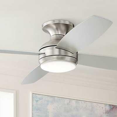 "52"" Casa Elite™ Brushed Nickel LED Hugger Ceiling Fan - Lamps Plus"