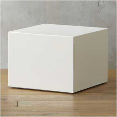 city slicker white side table - CB2