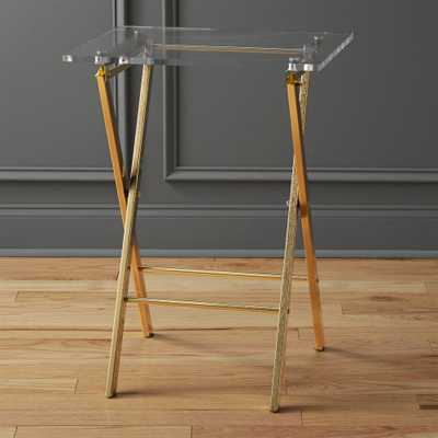 novo acrylic folding table - CB2