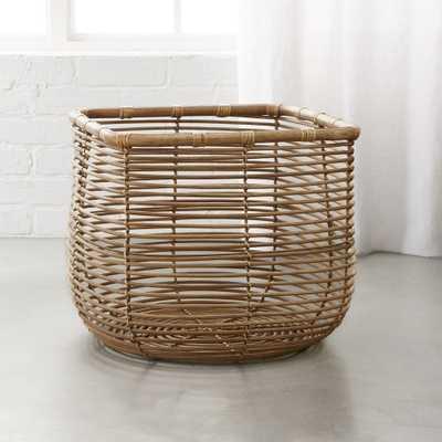 Round Square Natural Basket - CB2