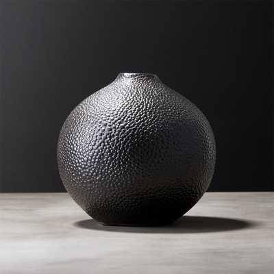 Shagreen Black Vase - CB2