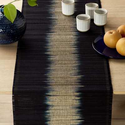 Decibel Black Table Runner - CB2