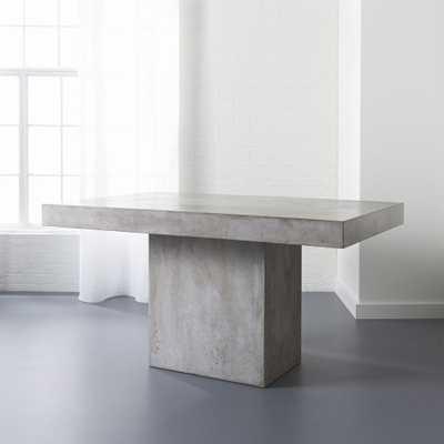 fuze grey dining table - CB2
