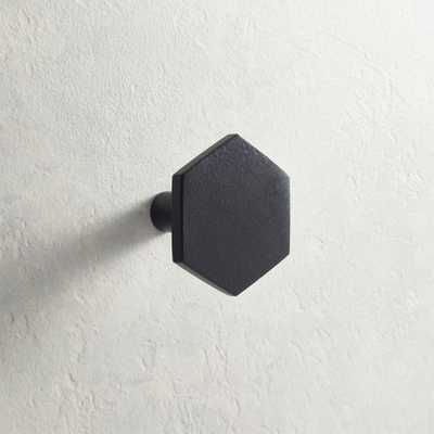 Hex Matte Black Drawer Pull - CB2
