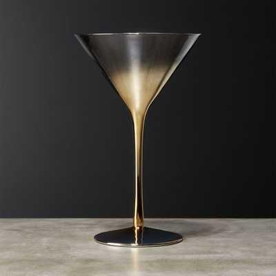 Irina Gold Martini Glass - CB2