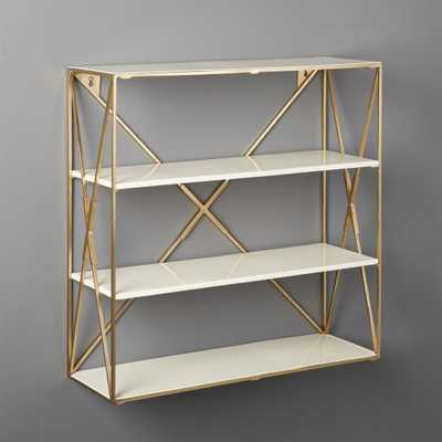 Smith Large Brass Wall Shelf - CB2