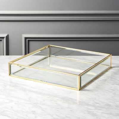 Brass and Glass Tray - CB2