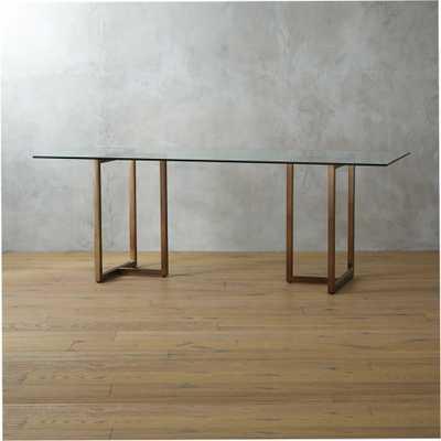 """silverado brass 80"""" rectangular dining table"" - CB2"