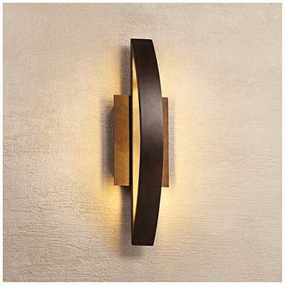 Possini Euro Coppered Arch Indoor - Outdoor LED Wall Sconce - Lamps Plus