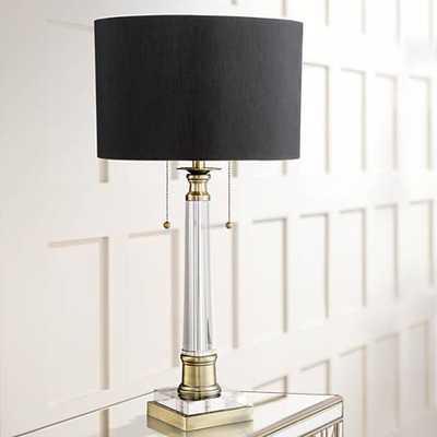 Vienna Full Spectrum Stephan Crystal Column Table Lamp - Lamps Plus