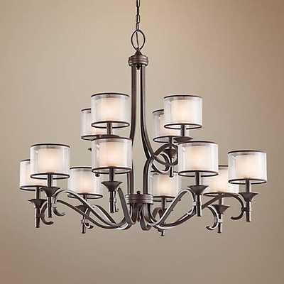 """Kichler Lacey 42"""" Wide Mission Bronze Chandelier - Lamps Plus"""