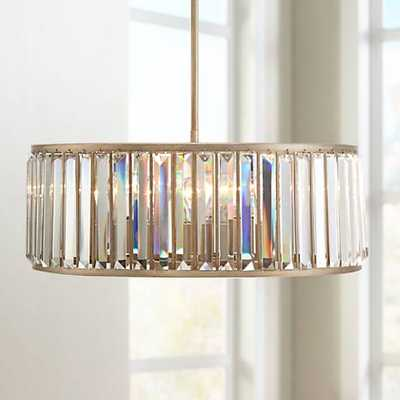 "Jania Crystal 20 3/4"" Wide Silver Leaf Pendant Light - Lamps Plus"