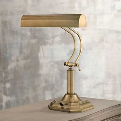 Lite Source Piano Mate Antique Brass Desk Lamp - Lamps Plus