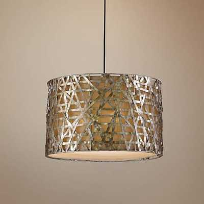 Alita Collection Champagne Hanging Pendant Chandelier - Lamps Plus