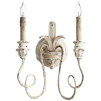 """Quorum Salento Collection 14"""" High Persian White Sconce - Lamps Plus"""