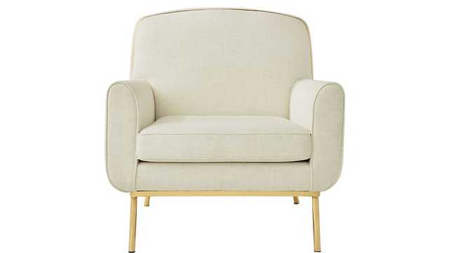 halo white snow armchair - CB2