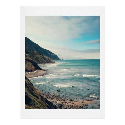 CALIFORNIA PACIFIC COAST HIGHWAY - 30x30 - Basic White Frame - Wander Print Co.