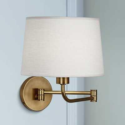 Robert Abbey Koleman Brass Plug-In Swing Arm Wall Lamp - Lamps Plus