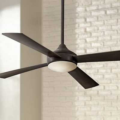 """52"""" Minka Aire Aluma Oil-Rubbed Bronze Ceiling Fan - with 24"""" downrod for 12' ceiling - Lamps Plus"""