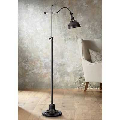 Portico Oil Rubbed Bronze Adjustable Pharmacy Floor Lamp - Lamps Plus