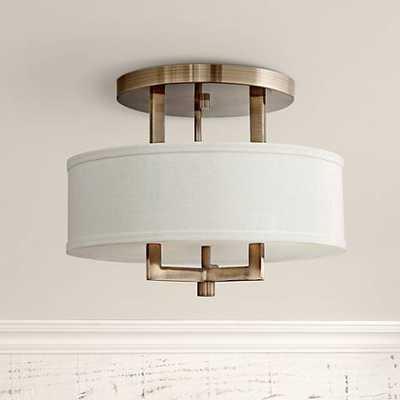 "Hinkley Hampton 15"" Wide Brushed Bronze Ceiling Light - Lamps Plus"