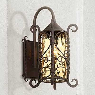 "Casa Seville™ Iron Scroll 18 1/2"" High Outdoor Light - Lamps Plus"
