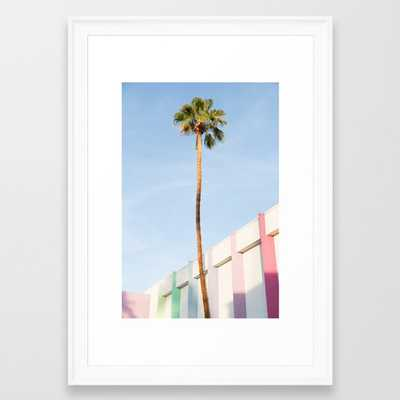 PALM AT THE SAGUARO FRAMED ART PRINT SCOOP WHITE SMALL - Society6