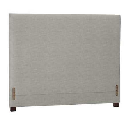 RALEIGH UPHOLSTERED SQUARE TALL HEADBOARD - KING - Pottery Barn