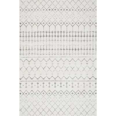 nuLOOM Blythe Grey Area Rug - 5 ft  x 8 ft - Home Depot
