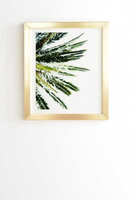 "BEVERLY HILLS PALM TREE Wall Art -8"" x 9.5"" - Gold Frame - Wander Print Co."