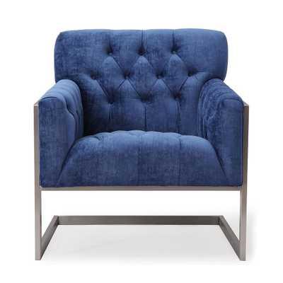 Malia Navy Velvet Chair - Maren Home