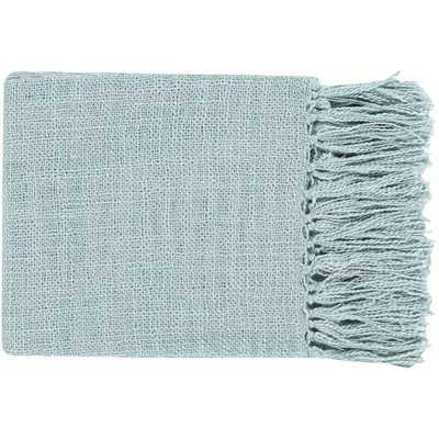 Tilda Throw Blanket - Blue - Neva Home