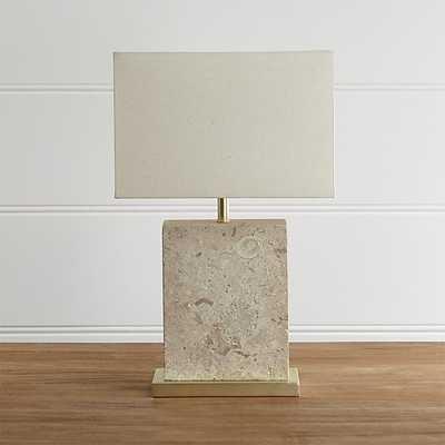 Mactan Stone Table Lamp - Crate and Barrel