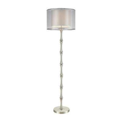 Palais Princier Satin Nickel Floor Lamp - Rosen Studio