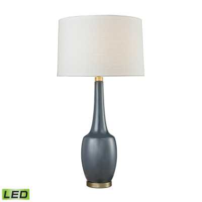 Modern Vase Ceramic LED Table Lamp in Navy Blue - Rosen Studio