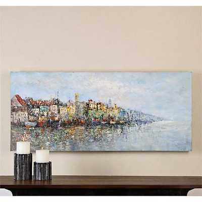 """Hudsonhill Foundry Overlooking the Sea 60"""" Wide Canvas Wall Art - Hudsonhill Foundry"""