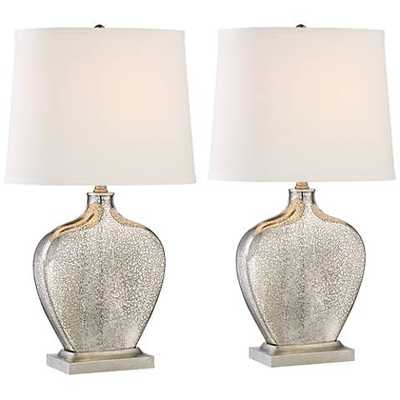 Set of Axel Mercury Glass Table Lamps 2 - Lamps Plus