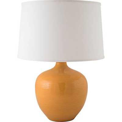 RiverCeramic® Bean Pot Nutmeg Orange Table Lamp - Lamps Plus