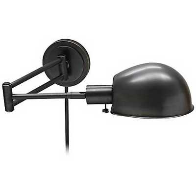 House of Troy Addison Bronze Swing Arm Wall Lamp - Lamps Plus