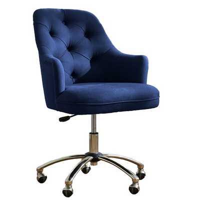 Tufted Desk Chair, Navy - Pottery Barn Teen
