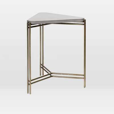 Concrete Triangle Side Table - West Elm
