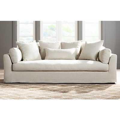 Chateau Linen Fabric Slipcover Sofa - Lamps Plus