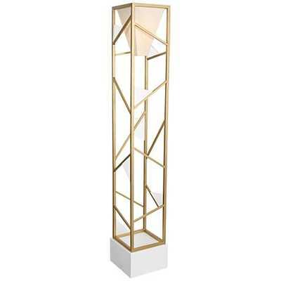 Van Teal Tower Center Gold Floor Lamp - Lamps Plus