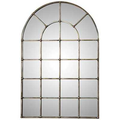 """Uttermost Barwell Silver 29 1/2"""" x 44 1/4"""" Arch Mirror - Lamps Plus"""